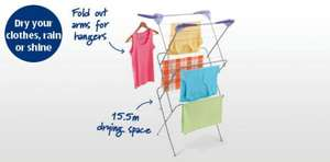 3 tier airer - 15.5m airing space £4.99 (Was £12.99) @ ALDI