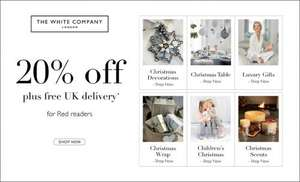 20% at The White Company with Red Magazine
