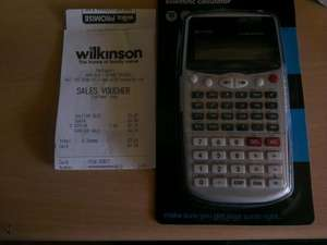 Wilko scientific calculator £3.97