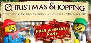Legoland windsor shopping days spend £120 get annual pass free