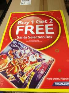 Cadbury Santa Selection Box Medium £3 Buy 1 Get 2 Free @ Tesco starts 8th november