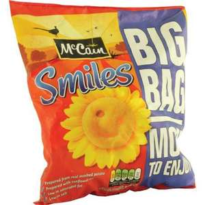 900gm McCain Smiles £1.00 each or 2 for £1.50 at Heron Foods