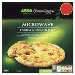 Microwave 3 Cheese & Tomato Pizza 50p in store at ASDA
