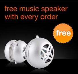 FREE Portable Speaker with every order @ Orange Accessories!! + 5% Quidco