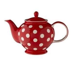 Whittard of Chelsea Florence Red Spot 6-Cup Teapot £9