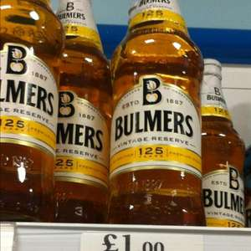 Bulmers Original & Pear Cider 568ml Bottles £1 each! @ homebargains