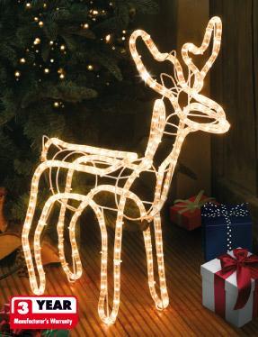 Various Indoor/Outdoor 3D Rope Light Figures £12.99 Instore @ Lidl
