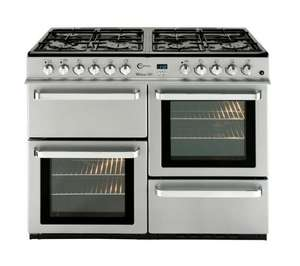 FLAVEL ML10FRSP Dual Fuel Range Cooker - Silver  @ CURRYS £408.49 with free delivery and 2% quidco using Code CUR1