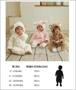 Baby Animal Onesies £11.98 on eBay beltw0rld