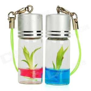 Real+Growable Lucky Bamboo Plant In-a-Bottle Keychain (2-Pack) - £1.40 @ Deal Extreme