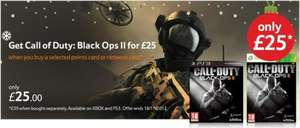 Call Of Duty Black Ops 2 Xbox/PS3 for £25 @ Tesco Instore / Online when bought with 2100/4200 Xbox Live Points or £25/£35 Playstation Network card