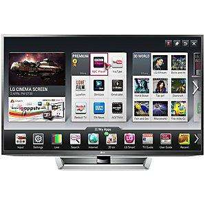 LG 50PM670T Plasma HD 1080p 3D Smart TV, 50 Inch with Freeview HD at JOHN LEWIS via PRICE MATCH form