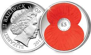 The New 2012 £5 Poppy Coin £5.00 Delivered @ Westminster Collection