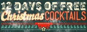 12 Days of Free Christmas Cocktails from Revolution Vodka Bars with Voucher