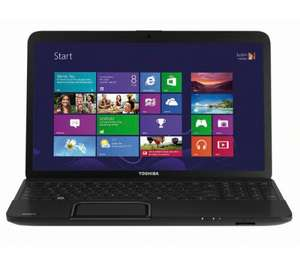 "TOSHIBASatellite C850D-11Q 15.6"" Laptop windows 8,•Dual-core AMD E1-1200 processor, 6gb memory, 320 gb hard drive at CURRY'S - £329.99"