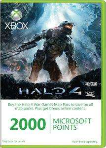 2000 Microsoft Points £14.20 @ The Hut
