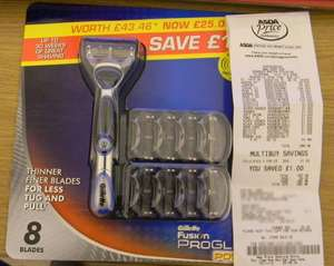 Gillette Fusion Proglide Power Handle + 9 Blades £10.00 @ Asda instore