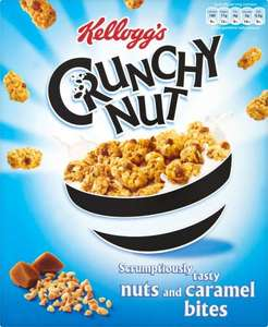 Kelloggs Crunchy Nut, (Nuts & Caramel bites) (360g) was £2.69 now £2.00 @ Sainsbury's