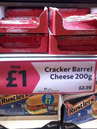 Kraft Cracker Barrel Cheese, 200g £1, Morrisons (Great Park, Rubery)