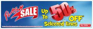 Up to 50% off selected lines flash sale at Smyths Toy Store