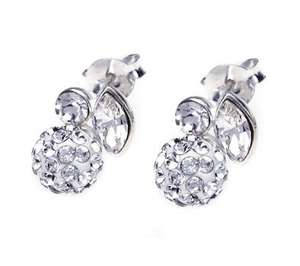 Contemporary Swarovski Elements Crystal Rosebud Earrings - Should be £50 but only £15 (using voucher code HOTROSE70) + £1.95 delivery @ John Greed Jewellery