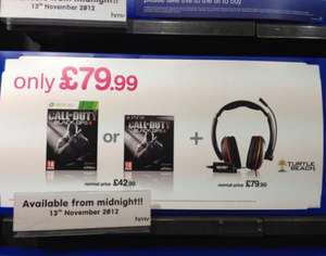 Call of duty free with purchase of Turtle Beach Kilo Headset - £79.99 @ HMV