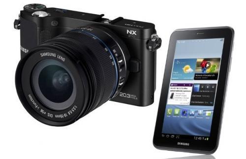 Samsung nx1000 20.3 mega pixel camera free galaxy tab 2 £400, claim £50 cashback £349.99 Amazon