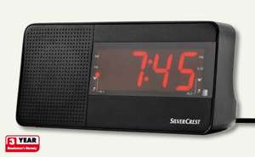 Alarm Clock Radio £7.99 @ Lidl