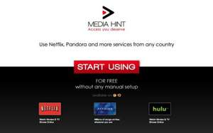 Access Pandora / Netflix / Hulu without any installation ( Google Chrome Extension/ Firefox Add-on) @ MediaHint