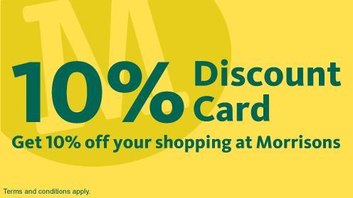 Morrisons 10% discount Card - valid until 31/12/2012