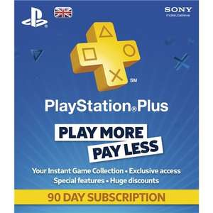 PSN Playstation Plus  90 days Playstation Plus subscription for £5.99 (Works out 12 months £23.96) @ Play.Com