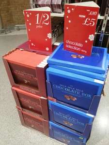 Marks and Spencer 600G Chocolates (milk or milk/dark/white) half price at £5 at Marks and Spencer instore