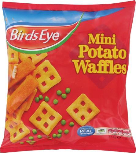 Birds Eye Mini Potato Waffles (26 per pack - 513g) was £1.99 now £1.00 @ Asda & Sainsbury's