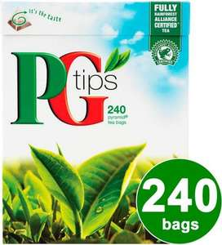 PG Tips Pyramid Tea Bags (240 per pack - 750g) NOW £3.00 @ Asda