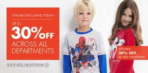 42% off all kid's nightwear, inc Stompeez (with discount code) @ BHS + 5% Quidco
