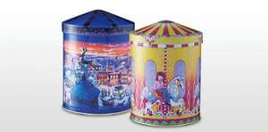 Musical box tin filled with 175g biscuits £3.99 from Aldi.