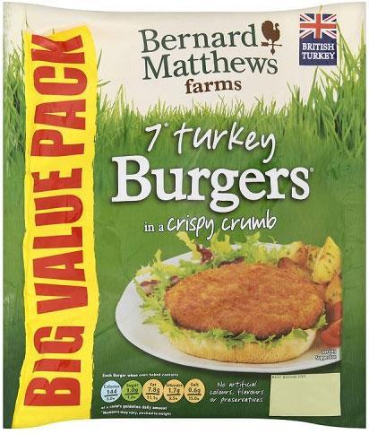 Bernard Matthews 7 Turkey Burgers for £1 @ Morrisons