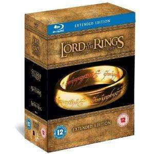 LORD of the rings trilogy extended bluray [15 discs] £38.99 at amazon