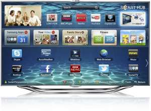 "Samsung 55ES8000 55"" LED HD 1080p 3D Smart TV £1799 Price Match John Lewis + £200 Free Samsung Stuff"