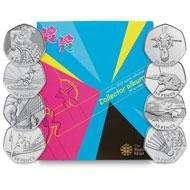 Royal Mint 2012 Complete 50p Folder + Completer Medallion HALF PRICE