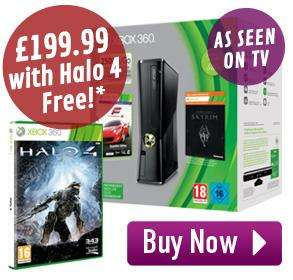 xbox 360 250gb forza essentials, skyrim and halo 4 = £199.99 @ GAME