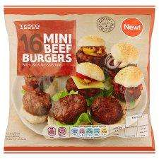 65p for 16 mini burgers or 32p if use clubcard exchange In tesco!