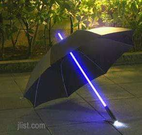 Light Sabre Golf Style Umbrella with LED Pole and Built-in LED Torch - £15.18 Delivered @ Scan