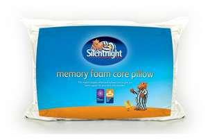 Silentnight Memory Foam Core Pillow - Hollowfibre Surround Memory Foam Core - £9.99 delivered @ Ebay uk-bedding