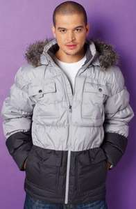 padded coat with detachable fur hood by adidas £54.99 @ 24Ace