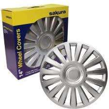 Sakura Luxury Set of 4 Car Wheel Trims - 14 Inch. Only £10.99 + FREE DELIVERY @ Argos (online)