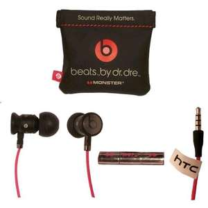 HTC Monster UrBeats by dr. dre In-ear Headphones - Black/Red   posted £34.78 @ Handtec