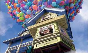 How many balloons does it take to lift your house?