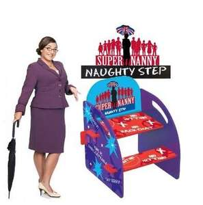Super Nanny Naughty Chair Step Stool with Advice Guide £ 14.95 Delivered  @ ebinary - ebay