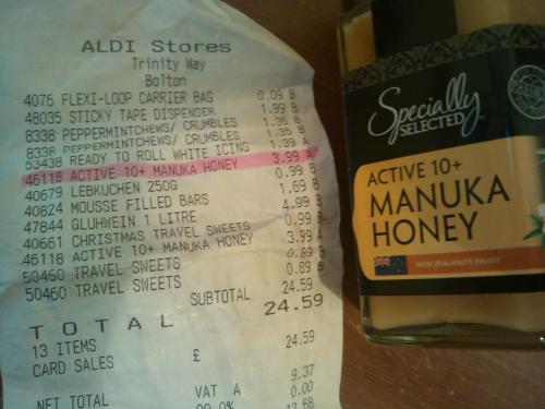 Manuka Honey at Aldi